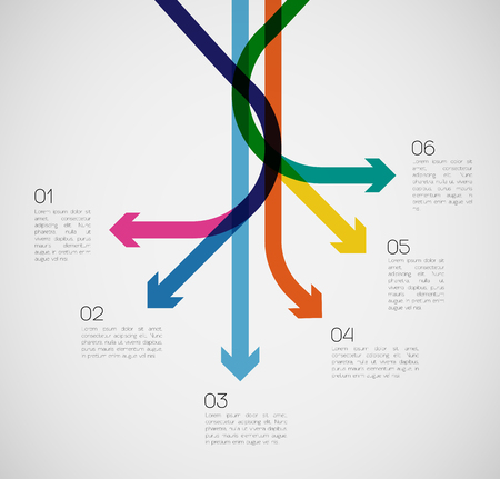 different way: Different Way Infographics   EPS10 Vector