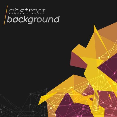 抽象的なメッシュの背景に円、線、図形 EPS10 の未来的なデザイン  イラスト・ベクター素材