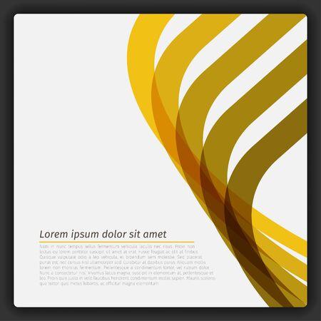 カラフルな抽象的な線テンプレート ベクトル 写真素材 - 51768698