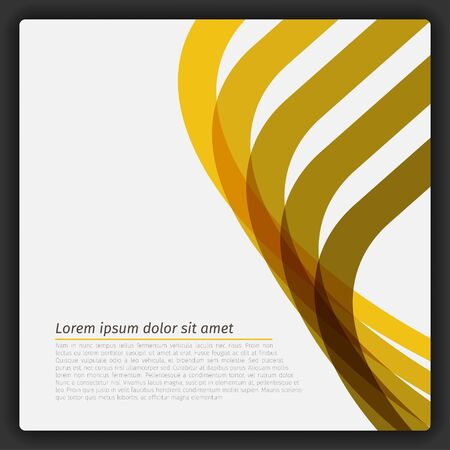 Colorful Abstract Lines Template Vector