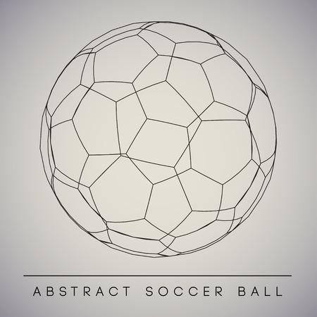 Abstract Soccer Ball   Vector Иллюстрация
