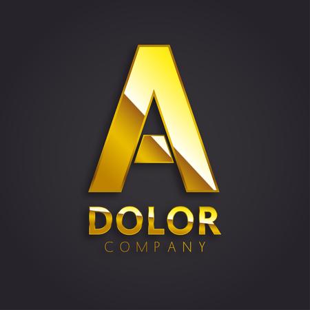 shiny gold: Shiny Gold A Symbol   Vector Illustration