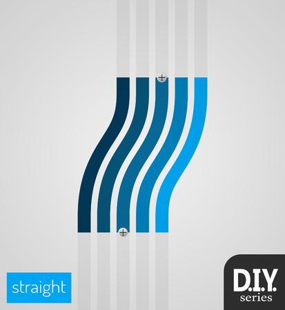 簡単に行うこと - 自分ストレート傾斜ベクターを使用するには  イラスト・ベクター素材