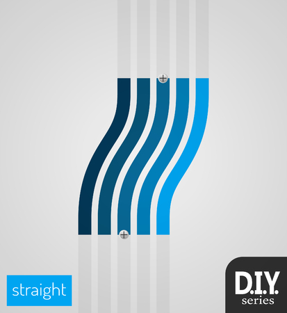 do it yourself: Do It Yourself - Straight Skew  Easy to use   Vector