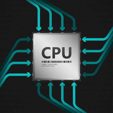 CPU 中央処理装置 EPS10 ベクトル