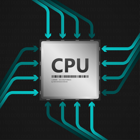 CPU central processing unit  EPS10 Vector