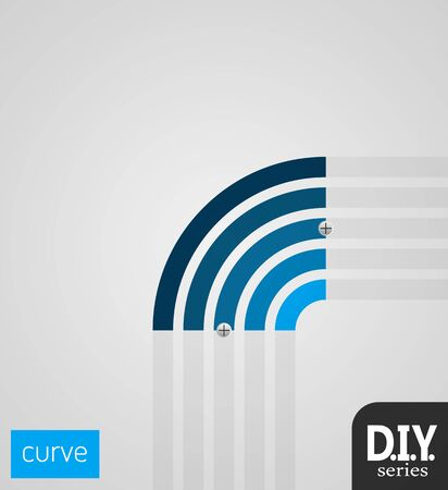 do it yourself: Do It Yourself - Small Curve  Easy to use  EPS10 Vector Illustration