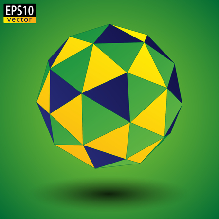 brazilian: Abstract Brazilian Soccer Ball  EPS10 Vector Illustration