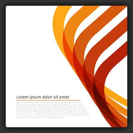 カラフルな抽象的な線テンプレート EPS10 ベクトル  イラスト・ベクター素材