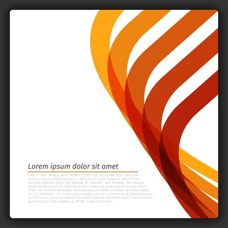 Colorful Abstract Lines Template  EPS10 Vector