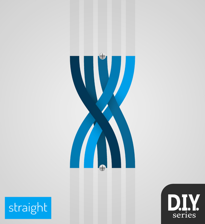 Do It Yourself - Straight Section  Easy to use  EPS10 Vector Vettoriali