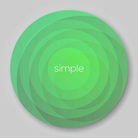 Circle Background for Design Green  EPS10 Vector