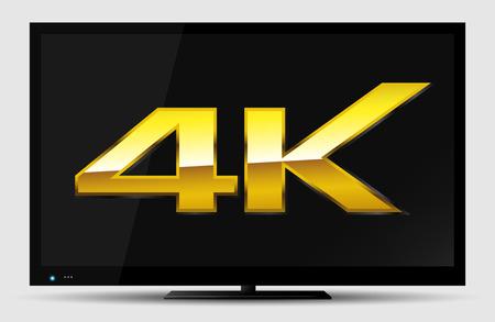4K TV symbol   Vector