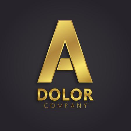 光沢のあるゴールドのシンボル  イラスト・ベクター素材