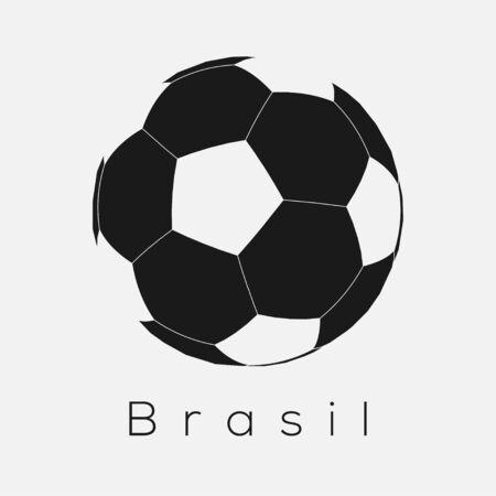 Brazilian Soccer Ball Icon Иллюстрация