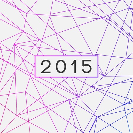 Happy New Year 2015 Greeting Card  EPS10 Vector Design