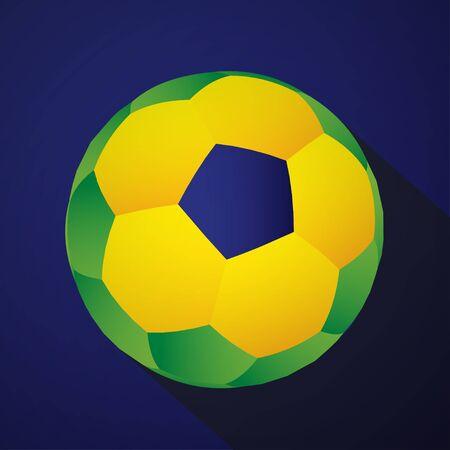 Flat Design Brazilian Soccer Ball Icon EPS10 Vector