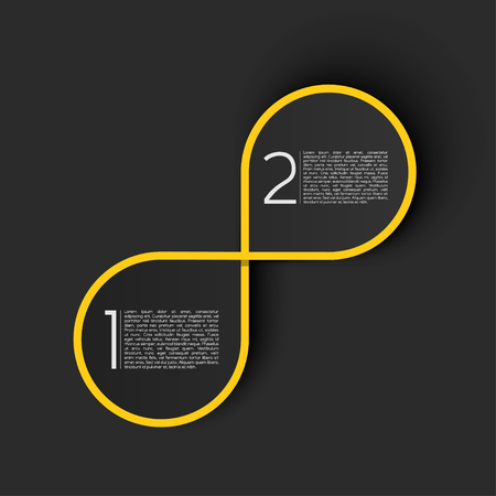 choose a path: Endless Title Area for EPS10 Vector Infographics