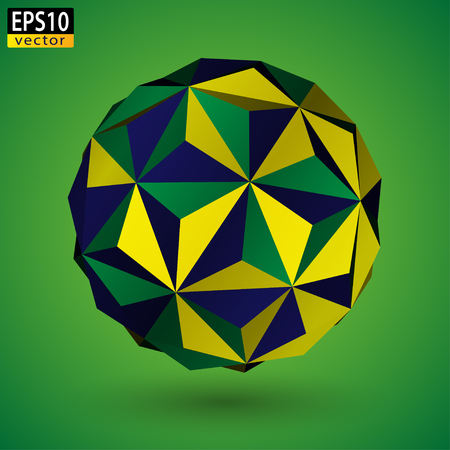 Brazilian Soccer Ball Abstract  Vector Иллюстрация