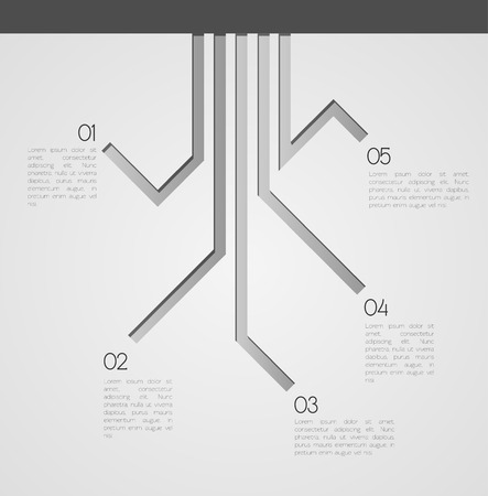 choose a path: Different Way EPS10 Vector Infographics