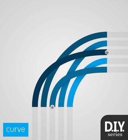 choose a path: Do It Yourself - Big Curve Easy to use EPS10 Vector Illustration