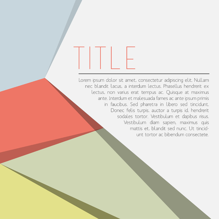 solid background: Abstract Shape Design with Copy Space Vector EPS10