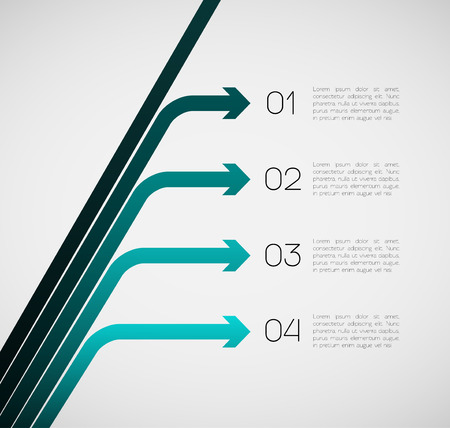 Different Way EPS10 Vector Infographics