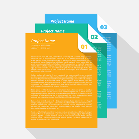 モダンなデザイン レイアウト、プロジェクト管理の簡単な EPS10 のベクトル