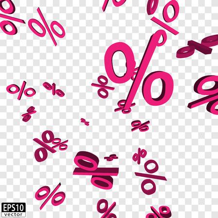 価格下落ピンク EPS10 ベクトル