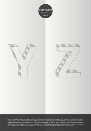 鮮やかな色とミニマルなデザイン EPS10 ベクトル設定 10 Y Z までの英字とセットで表記のアルファベット 写真素材 - 51755933