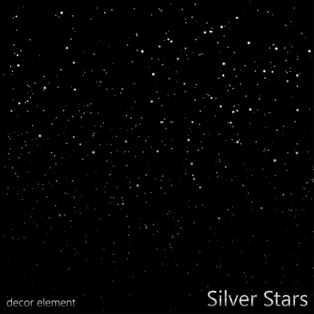 night time: Silver Stars overlay  EPS10 Vector