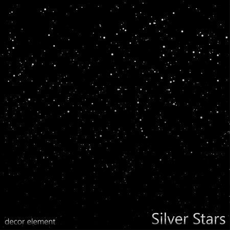 Silver Stars overlay  EPS10 Vector