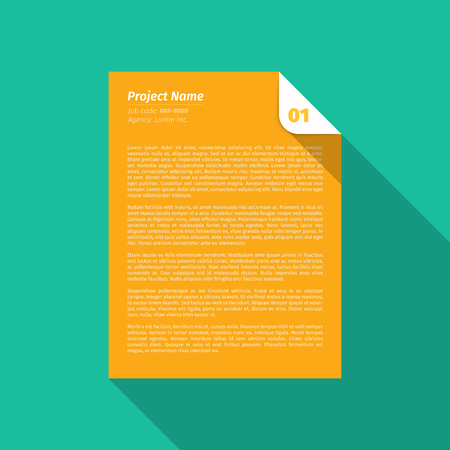 Modern design Layout, Project Management Brief  EPS10 Vector