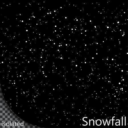 Isolated Snowfall  Eps10 Vector