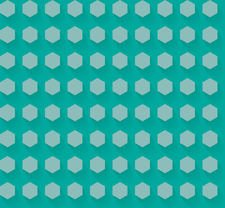 Flat Hexagon Pattern with shadow  EPS10 Vector
