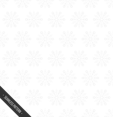 Seamless White Pattern with Snowflakes  EPS10 Vector Иллюстрация