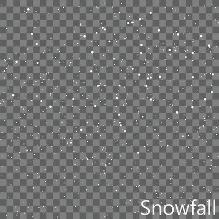 Isolated Snowfall Overlay  EPS10 Vector