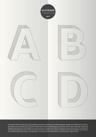 鮮やかな色とミニマルなデザイン EPS10 ベクトル設定 4 A B C D 文字セットで表記のアルファベット 写真素材 - 51756180