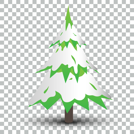 Isolated Christmas Tree with Shadow  EPS10 Vector
