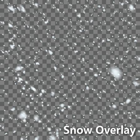 schneeflocke: Isoliert Falling Snow Overlay EPS10 Vector