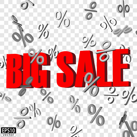 パーセント減少して孤立した大きな販売単語標識 EPS10 ベクトル  イラスト・ベクター素材