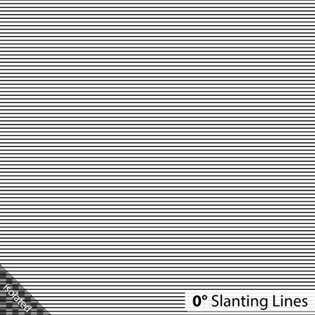slanting: Simple 0 degree horizontal Slanting Lines Illustration