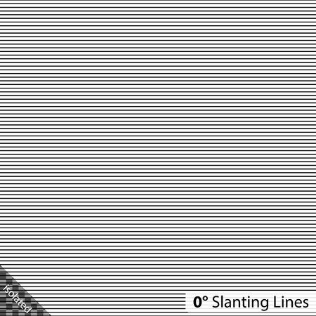 Simple 0 degree horizontal Slanting Lines Иллюстрация