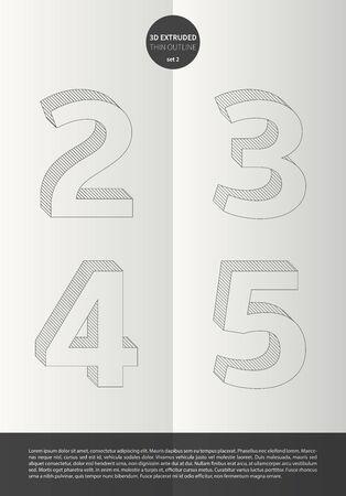 鮮やかな色とミニマルなデザイン EPS10 ベクトル セット 2 2 3 4 5 文字セットで表記のアルファベット