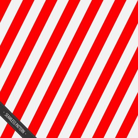 シームレスな包装紙のパターン。赤と白の斜めライン EPS10 ベクトル