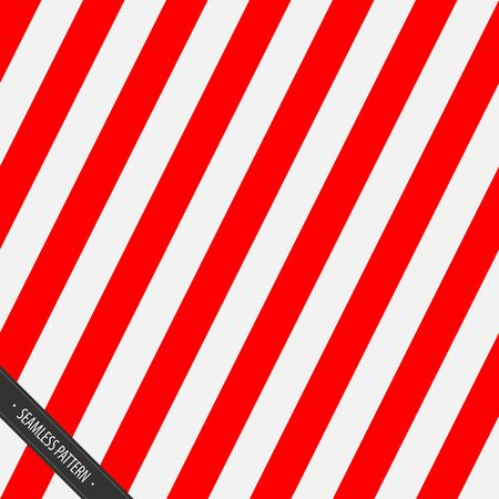 red and white: Seamless Wrapping Paper Pattern. Red and White Slanting Lines  EPS10 Vector Illustration