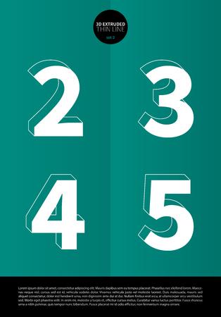 押し出しの細い線とミニマルなデザイン EPS10 ベクトル セット 2 2 3 4 5 文字セットで表記のアルファベット 写真素材 - 51756323
