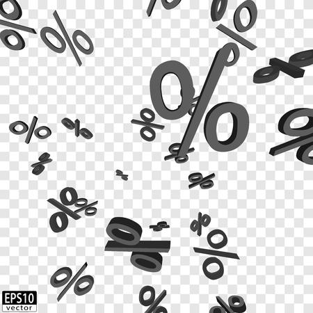 Falling Prices grey  EPS10 Vector Иллюстрация