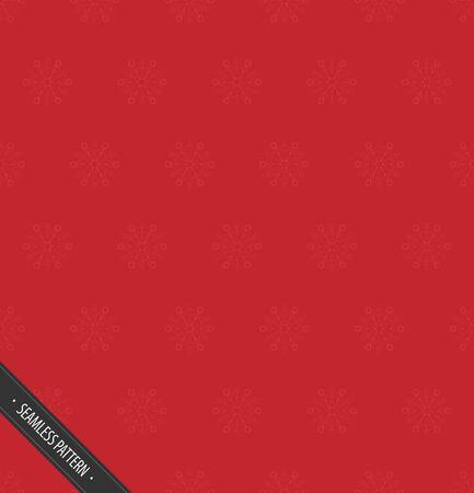 赤雪ベクトル EPS10 とシームレスなパターン  イラスト・ベクター素材