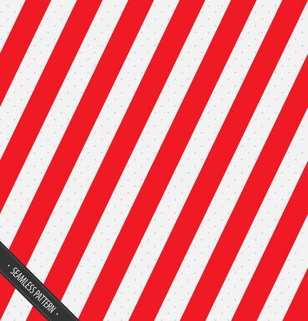 シームレスな包装紙のパターン。赤と白の斜めライン ベクトル EPS10
